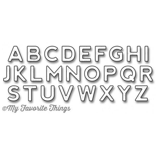 MFT Die-Namics Bottlecap Letters