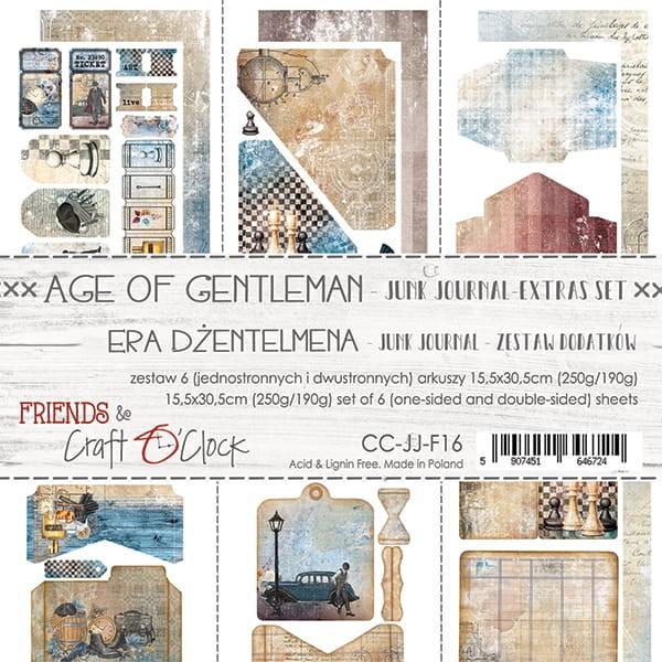 Craft o´Clock Age of Gentleman Junk Journal Extras-Set