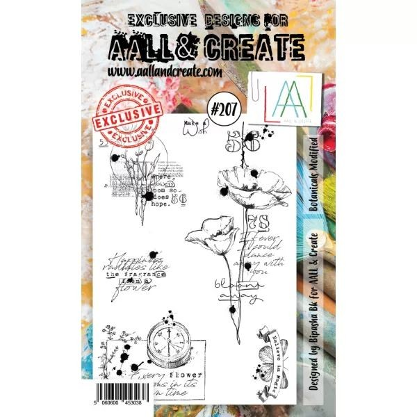 AALL & Create Clearstamps A6 No. 207 Botanicals Modified