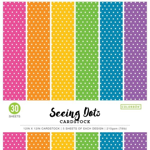 Colorbök Smooth Cardstock 12x12 Bright Spots