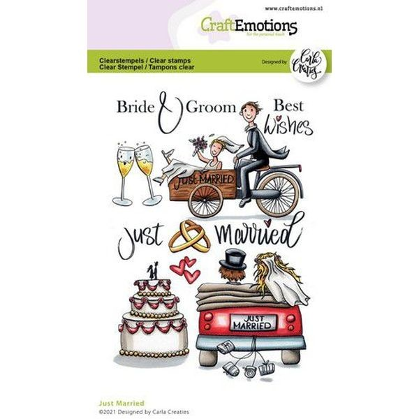 Craft Emotions Clearstamps Just Married