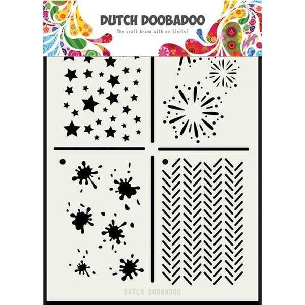 Dutch Doobadoo Mask Stencil A5 Multistencil II