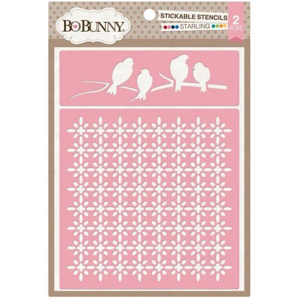 BoBunny Press Essentials Stickable Stencil Starling