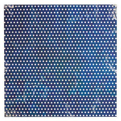Papermania Portobello Road Printed Paper Polka Dot Blue