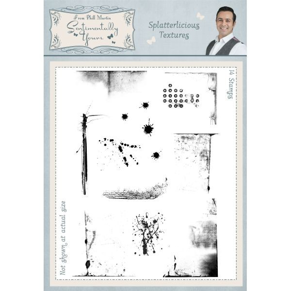 Sentimentally Yours Clearstamps Splatterlicious Textures