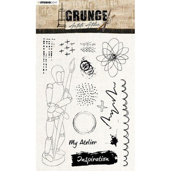 Studio Light Grunge Artist´s Atelier Clearstamps A5 No. 30
