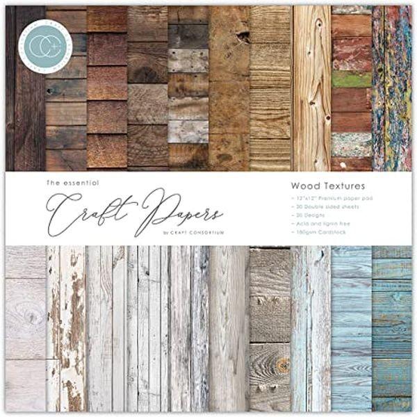 Craft Consortium Paper Pad 12x12 Wood Textures