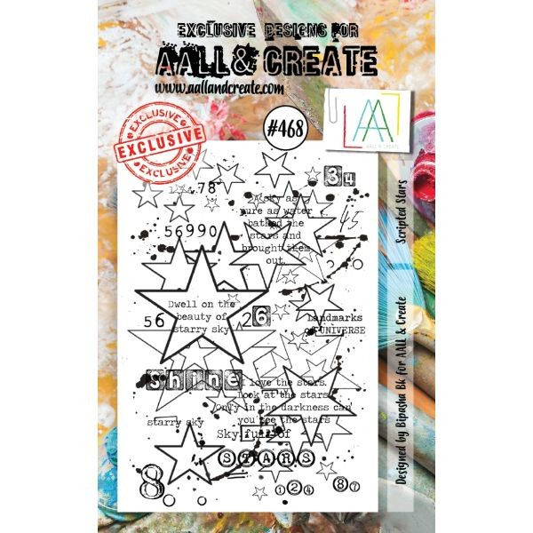 AALL & Create Clearstamps A7 No. 468 Scripted Stars
