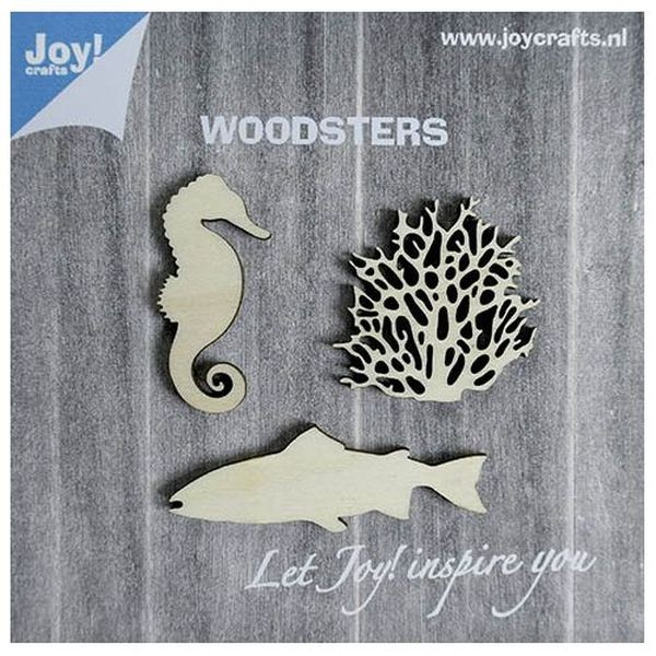 Joy! Crafts Woodsters Seahorse, Coral, Fish