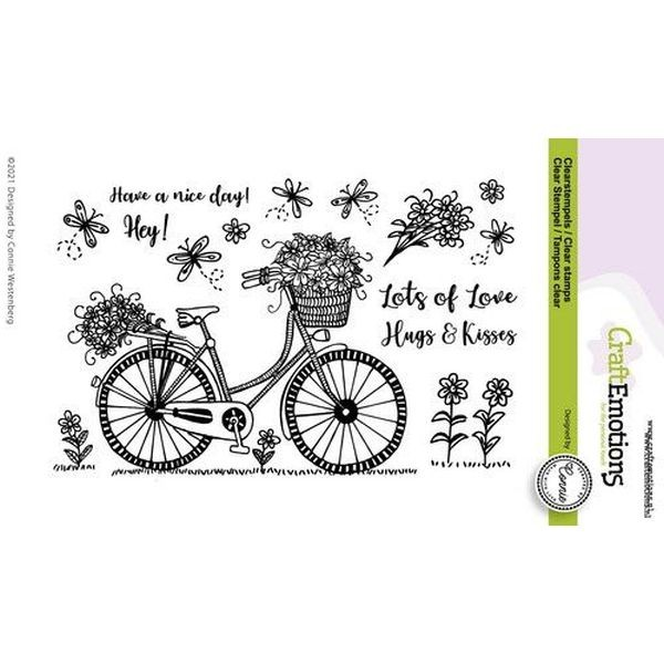 Craft Emotions Clearstamps Have a nice Day Bicycles