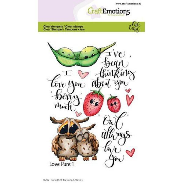 Craft Emotions Clearstamps Love Puns I
