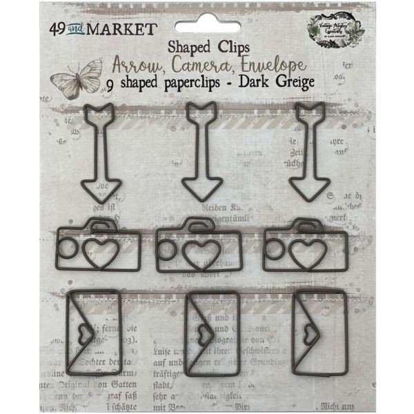 49 and Market Foundations Paper Clips Arrow, Camera, Envelope In Dark Greige