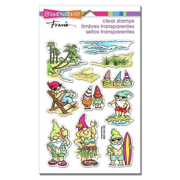 Stampendous Fran´s Clearstamps Gnome Beach