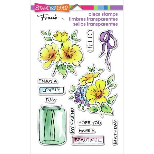 Stampendous Fran´s Clearstamps Lovely Flowers
