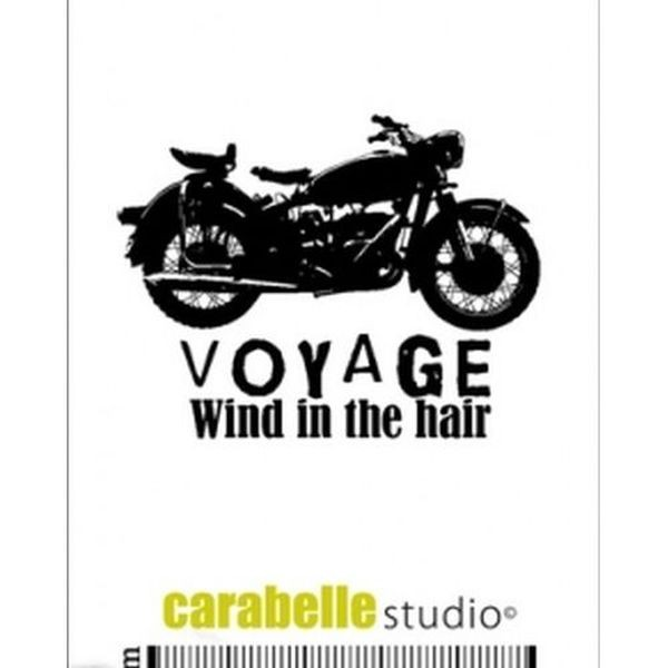 Carabelle Studio Tampon Art Stamp Mini Traveling by Motorcycle