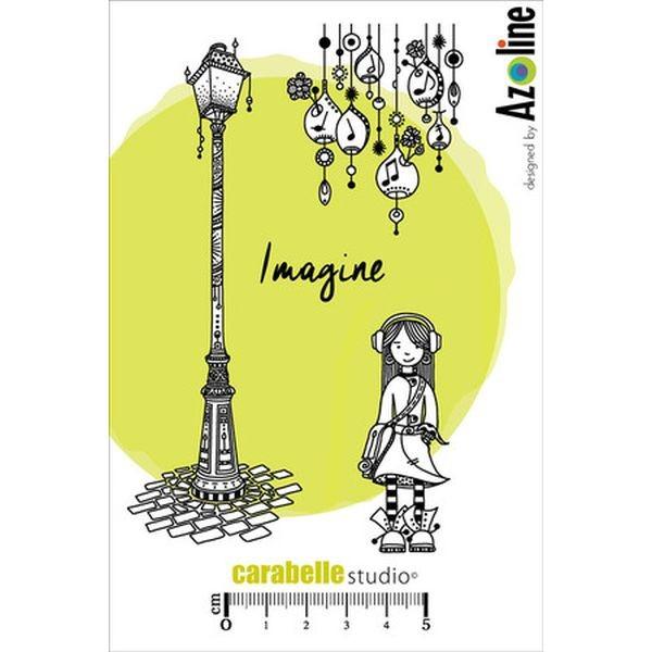 Carabelle Studio Tampon Art Stamp A6 Zinouk des petites Notes by Azoline