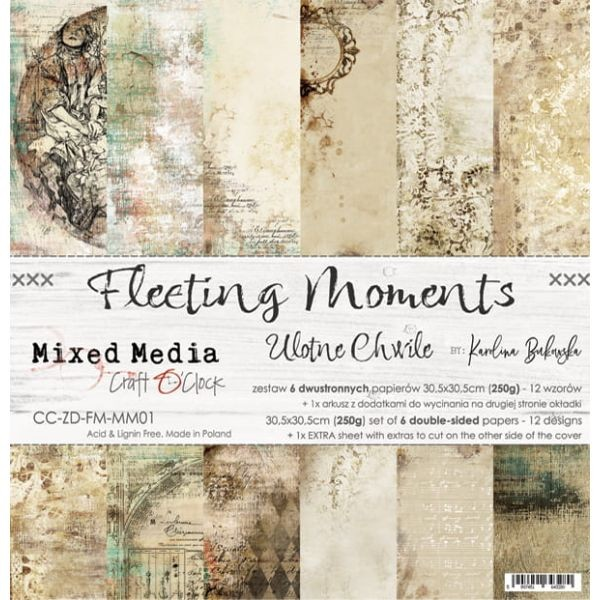 Craft o´Clock Fleeting Moments A Set of Papers 12x12