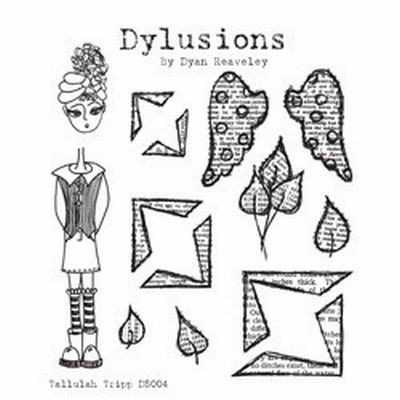 Dylusions Clingstamps Tallulah Trip