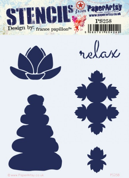 Paper Artsy Stencil 258 by France Papillon