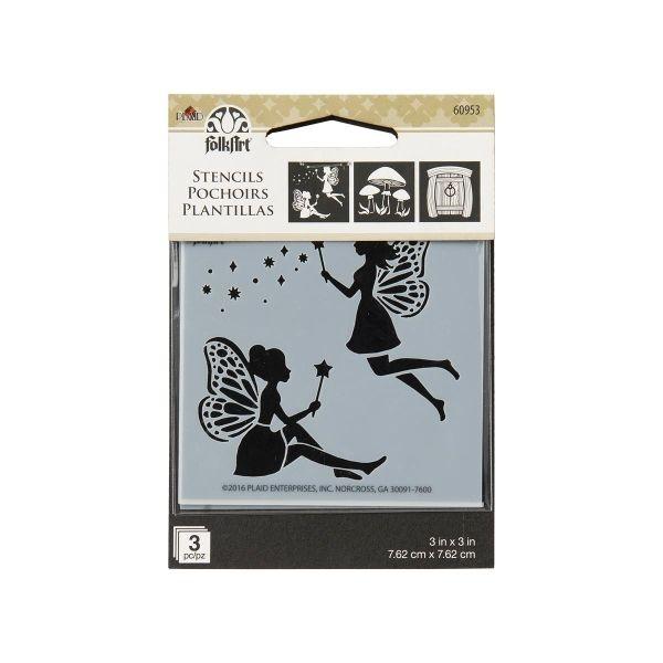 FolkArt Mini Stencils Fairies & Mushrooms