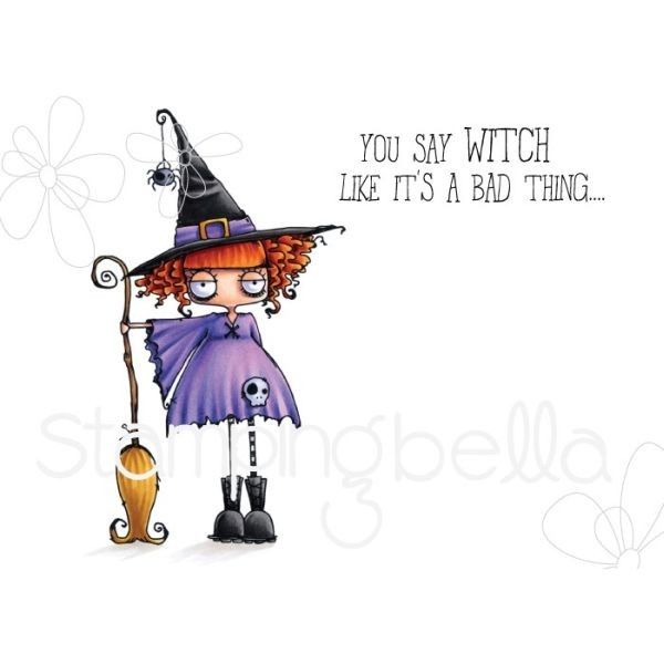Stamping Bella Clingstamps Oddball Witch