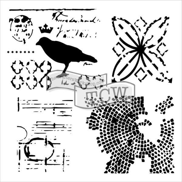 TCW Template 6x6 by Rebekah Meier Raven Mosaic