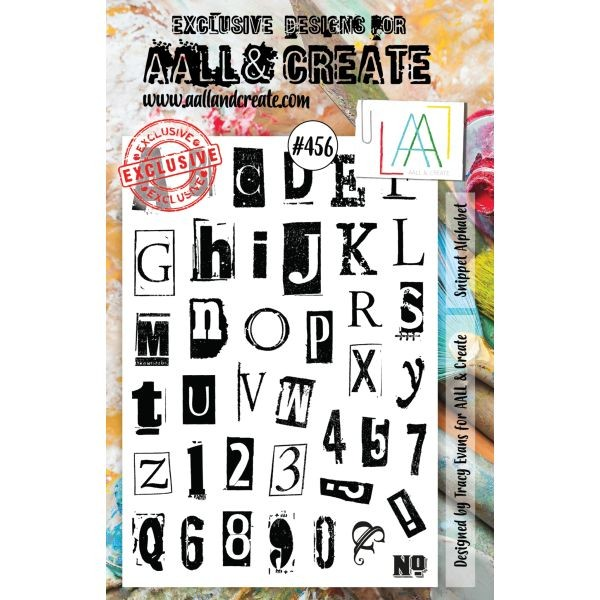 AALL & Create Clearstamps A5 No. 456 Snippet Alphabet