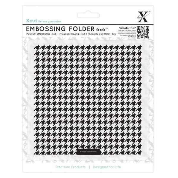 XCut Embossingfolder 6x6 Dogtooth Pattern