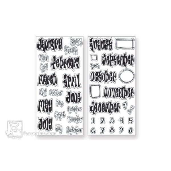 Dylusions Creative Dyary Stamp Set No. 1