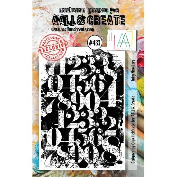AALL & Create Clearstamps A7 No. 433 Inky Numbers