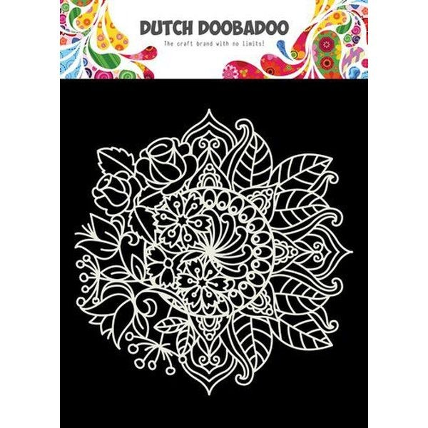 Dutch Doobadoo Mask Stencil 6x6 Mandala with Flower