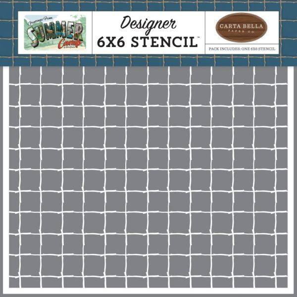 Carta Bella Stencil 6x6 Stick Grid