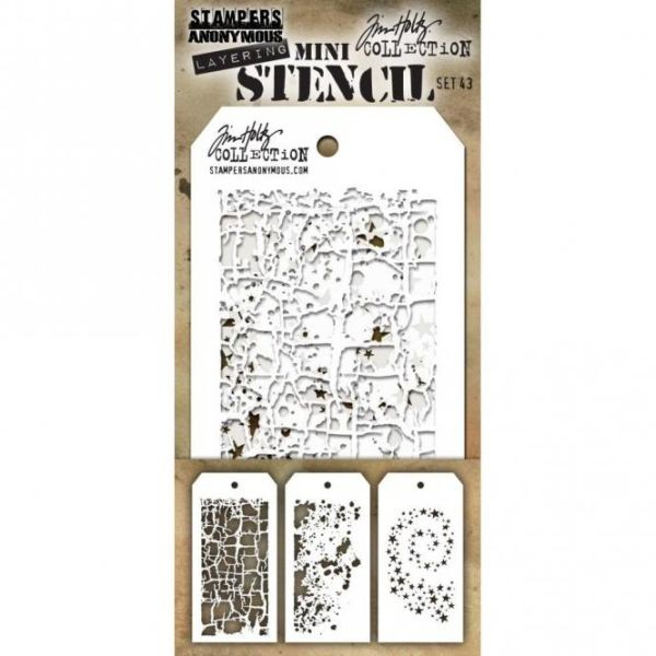 Tim Holtz Mini Stencil Set 043