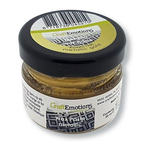 Craft Emotions Wax Paste Metallic Gold