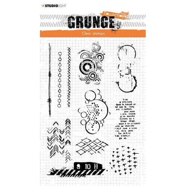 Studio Light Clearstamps Grunge Collection No. 409
