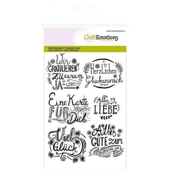 Craft Emotions Clearstamps Handlettering Wir Gratulieren