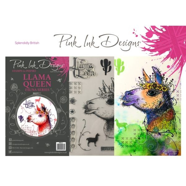 Pink Ink Designs Clearstamp Set Llama Queen