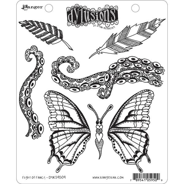 Dylusions Clingstamps Flight of Fancy