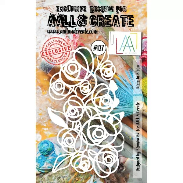 AALL & Create Stencil A6 No. 127 Roses in Bloom