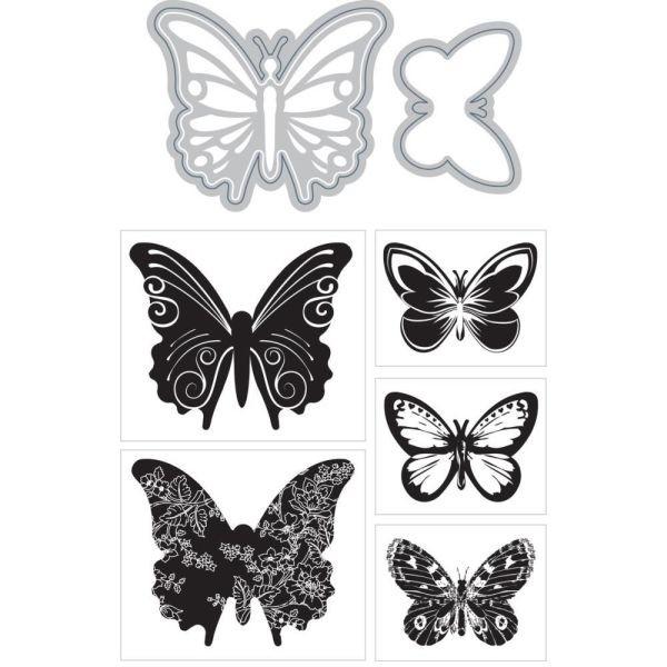 Momenta Art-C Stamp & Die Set Butterflies