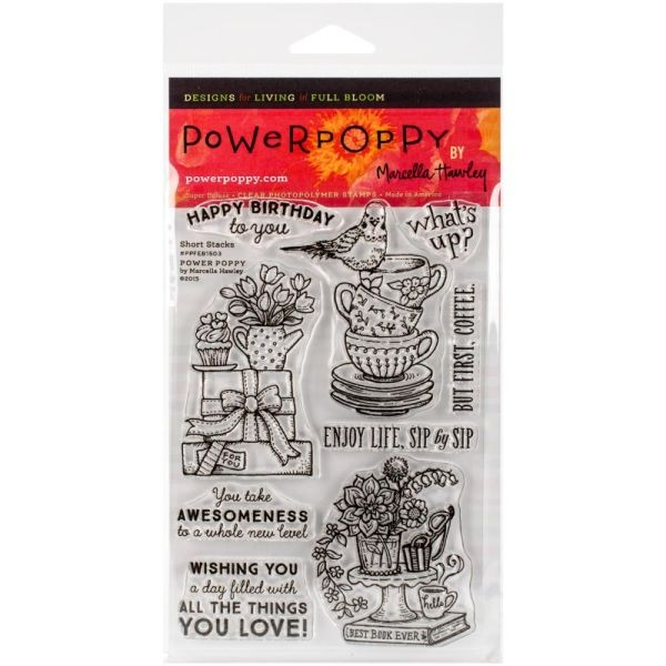 Power Poppy Clearstamps Short Stacks