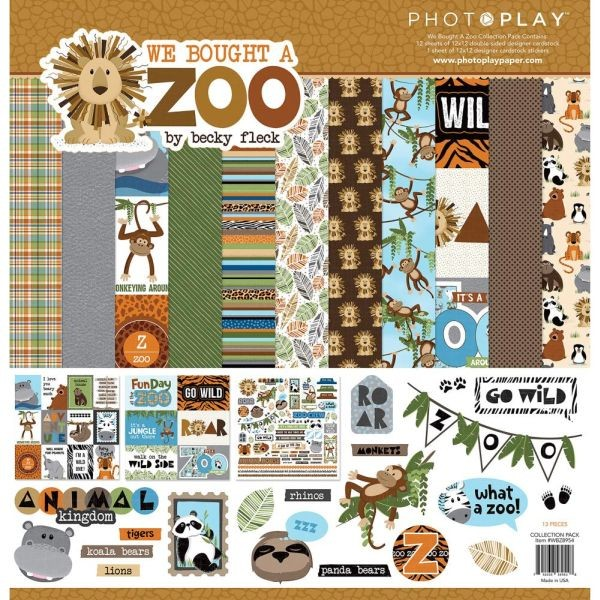 PhotoPlay Paper We Bought a Zoo Collection Pack 12x12