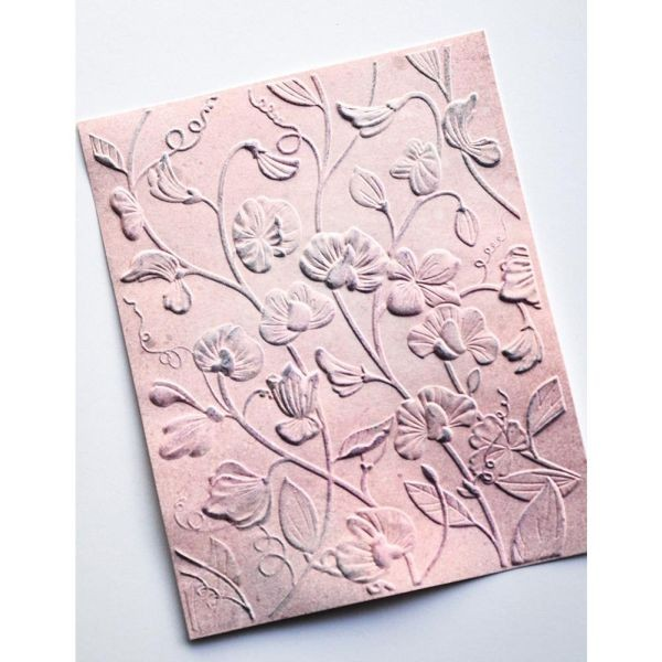 Memory Box 3-D Embossingfolder Blooming Swet Pea
