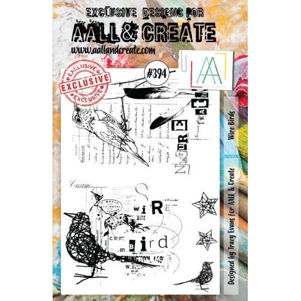 AALL & Create Clearstamps A5 No. 394 Wire Birds