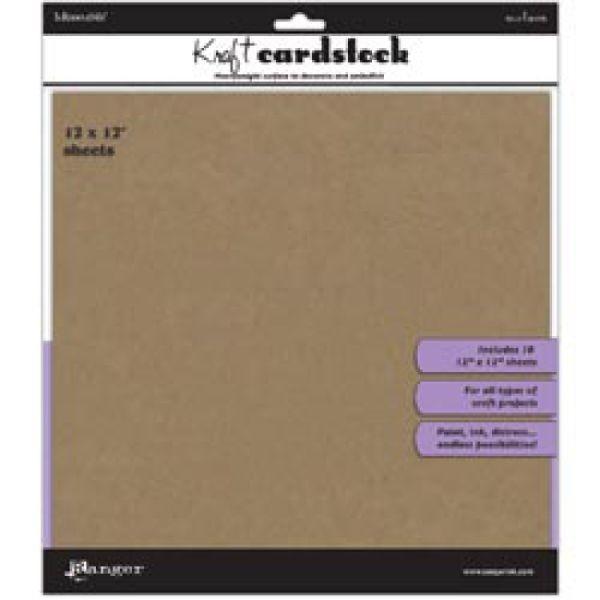 Ranger Inkssentials Kraft Cardstock 12x12