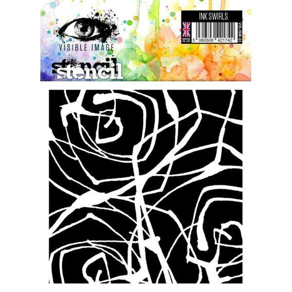 Visible Image Stencil 6x6 Ink Swirls