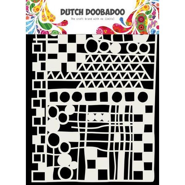 Dutch Doobadoo Mask Stencil A5 Geo Mix