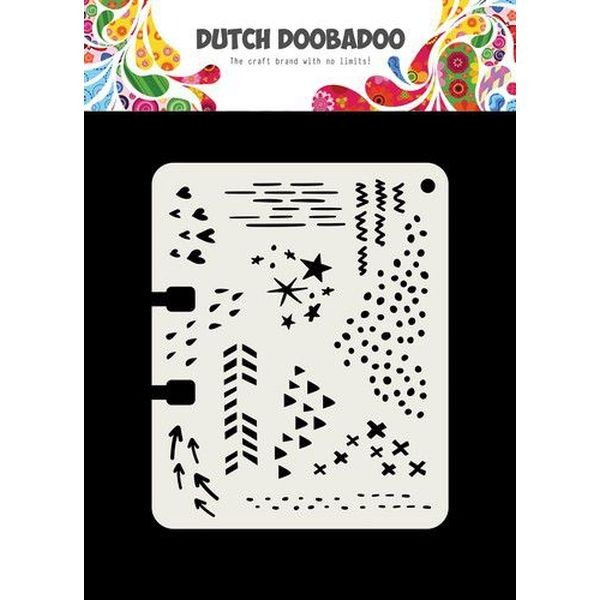 Dutch Doobadoo Mask Stencil Rollerdex Template