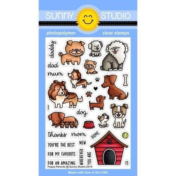 Sunny Studio Stamps Bundle Puppy Parents