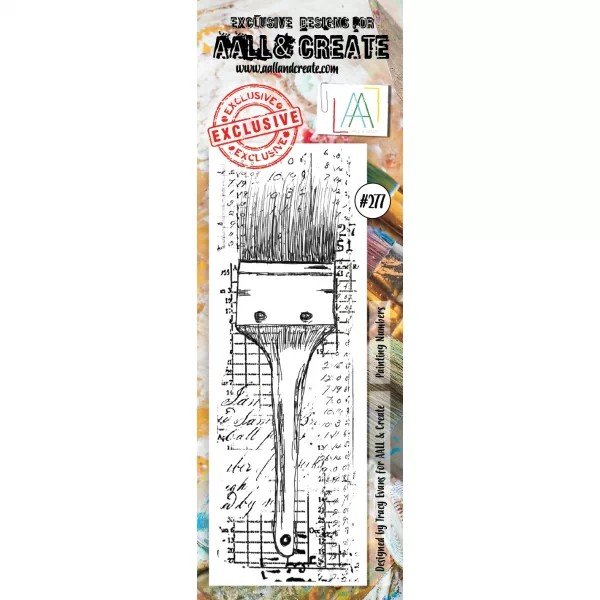 AALL & Create Border Clearstamps No. 277 Painting Numbers